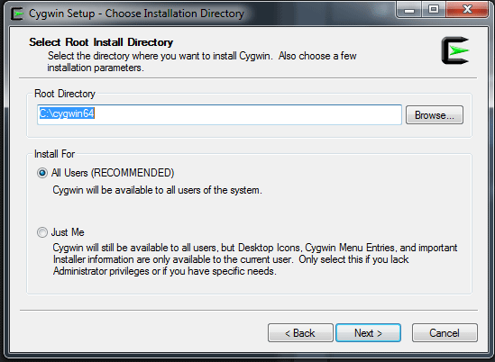 Setting up Perl on Windows using Cygwin